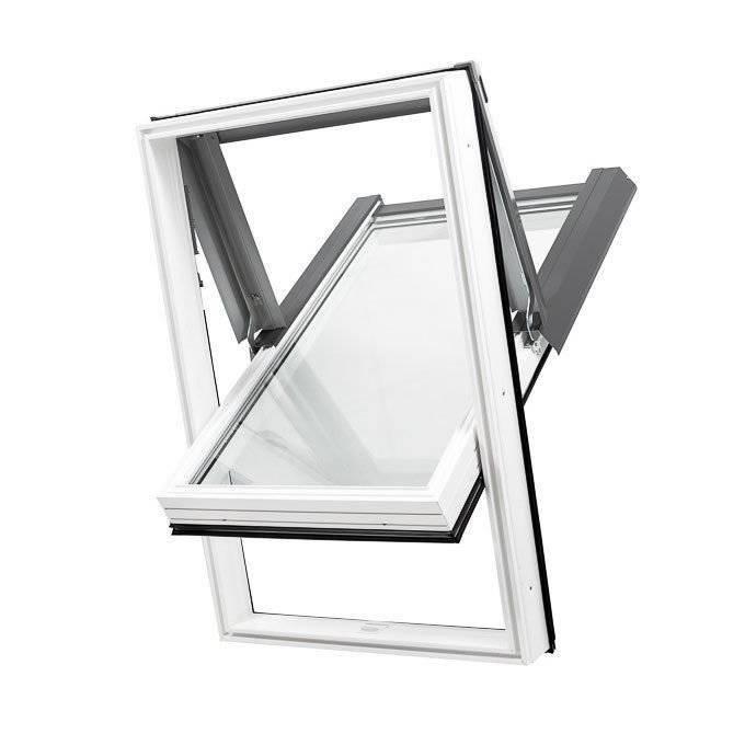 Dobroplast Okno dachowe SKYLIGHT PREMIUM PCV 78 cm x 140 cm białe