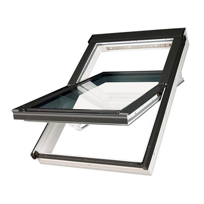 FAKRO okno dachowe PVC obrotowe PTP-V U4 3-szybowe z nawiewnikiem 114x118