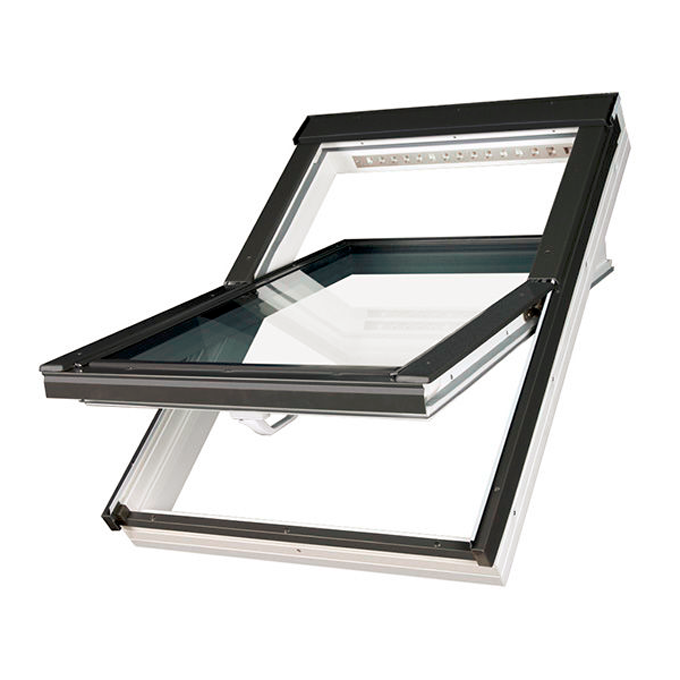 FAKRO okno dachowe PVC obrotowe PTP-V U4 3-szybowe z nawiewnikiem 78x160