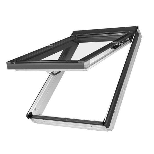 FAKRO okno dachowe drewniane białe uchylno - obrotowe FPU-V U3 preSelect z nawiewnikiem 78x160