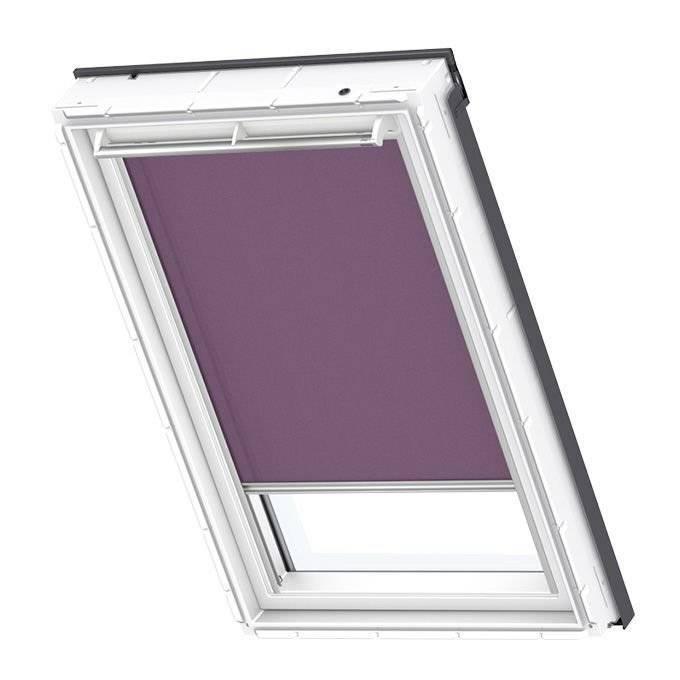 Roleta dekoracyjna ciemnofioletowa Velux RFL MK08 78x140 manualna Premium