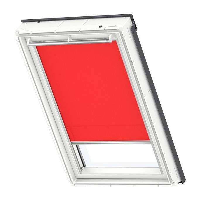 Roleta dekoracyjna jasnoczerwona Velux RFL MK06 78x118 manualna Premium