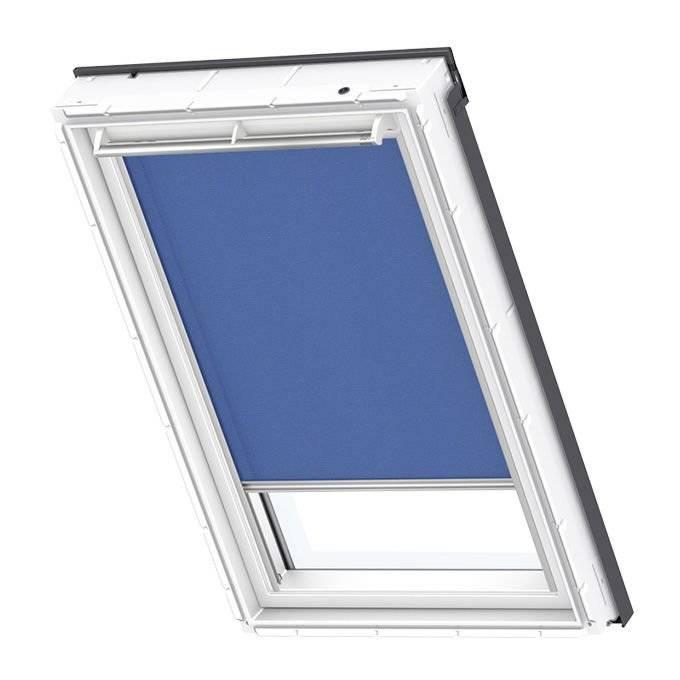 Roleta dekoracyjna niebieska Velux RFL MK08 78x140 manualna Premium